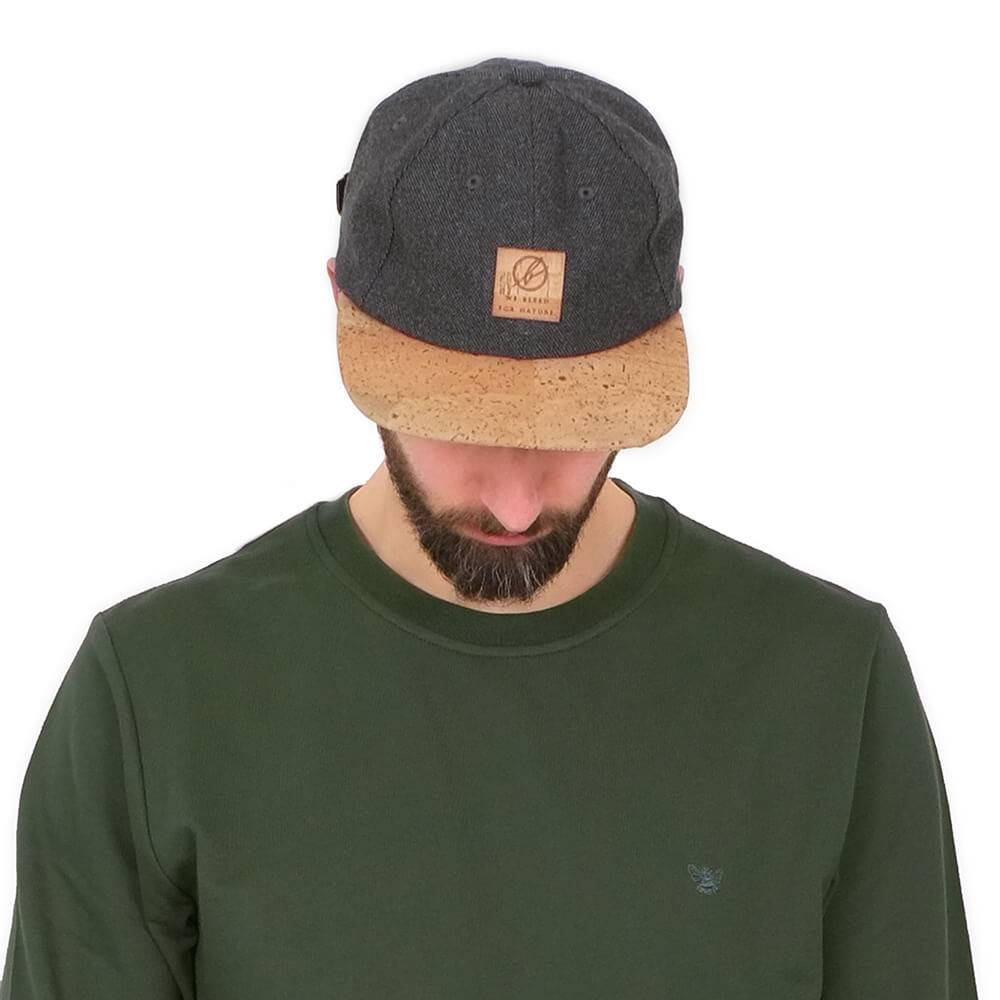 Bleed - 6 Panel Cap Cork Anthracite
