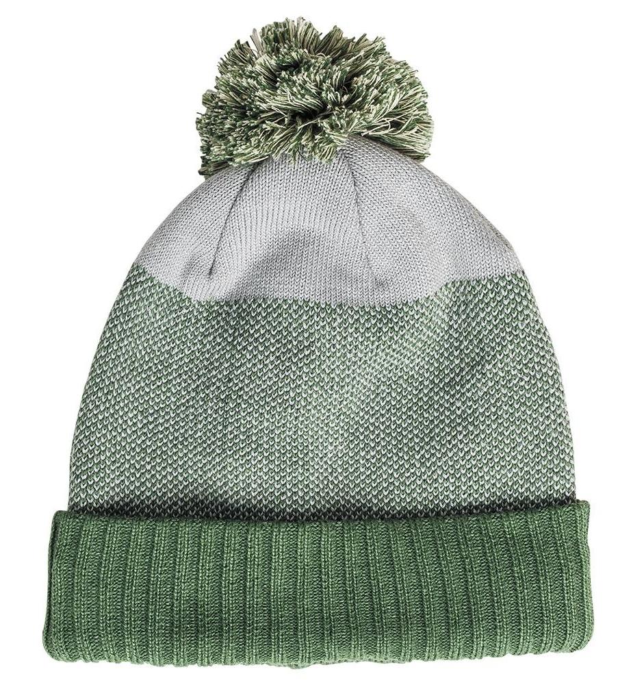 United By Blue - Birdseye Pom Beanie - Green Woolly Hat