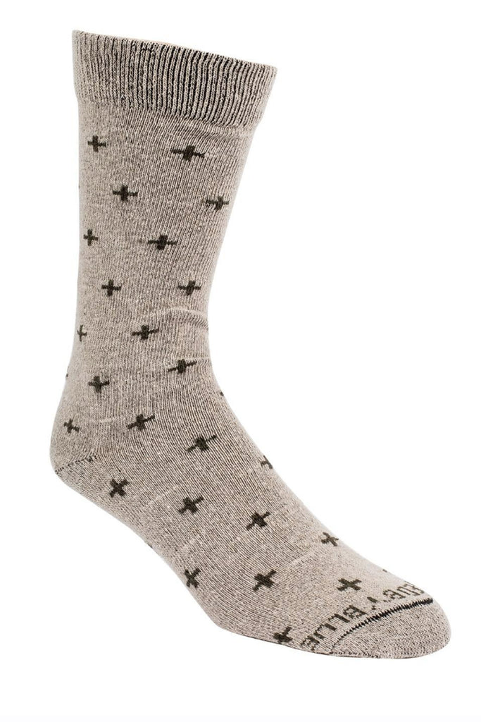 United By Blue - Byers Bartrams Sock Oatmeal Cross - Everyday Socks