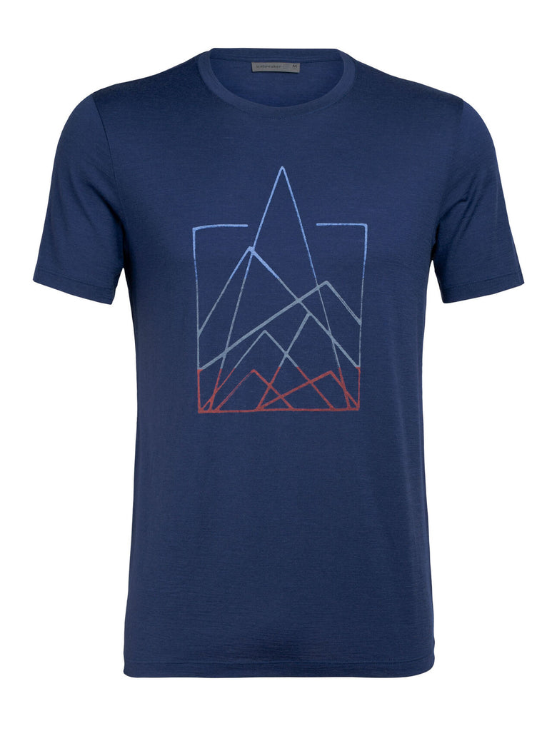 Icebreaker - Tech Lite T-Shirt for Men - 7 Pinnacles Short Sleeve Crewe in Blue