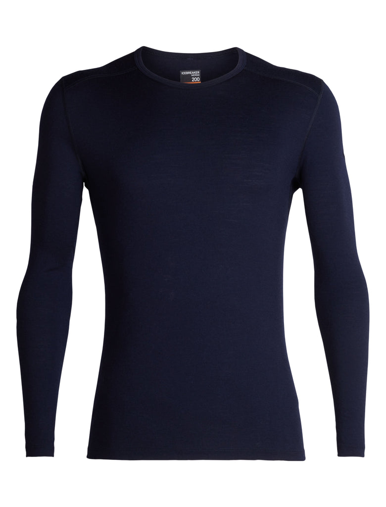 Icebreaker - Mens 200 Oasis L/S Crewe Merino Base Layer - Midnight Navy | Buy Now | TheOutdoorBoutique.com