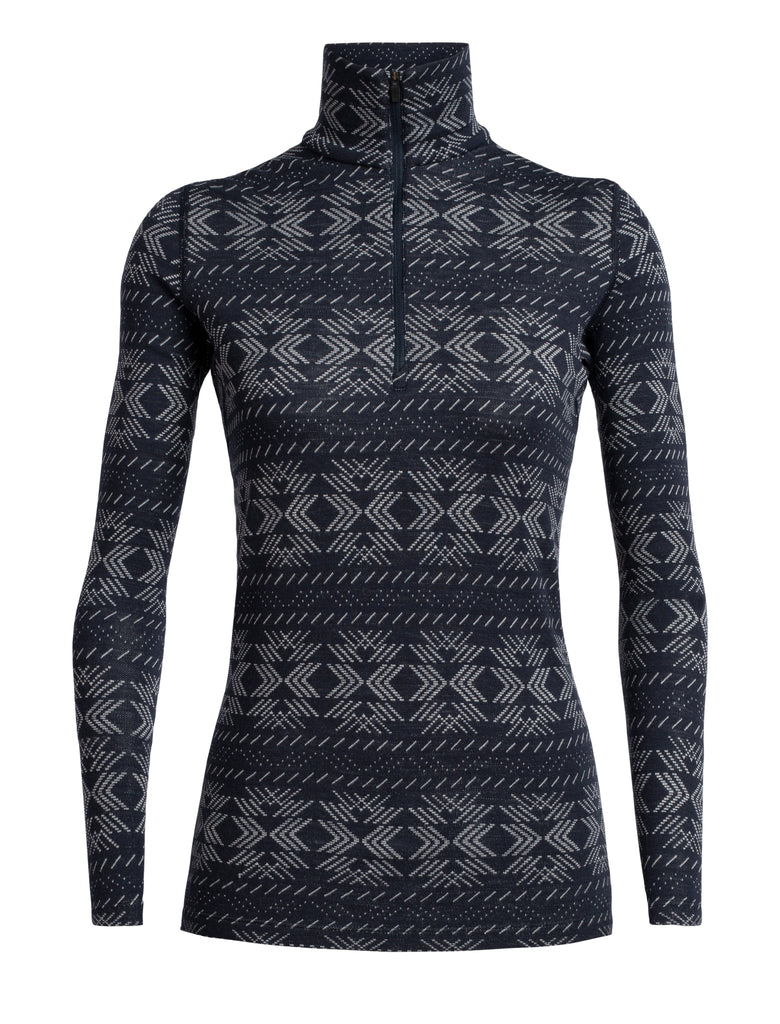 Icebreaker Vertex 250 L/S Half Zip Fleece in Midnight Navy - Merino base layer