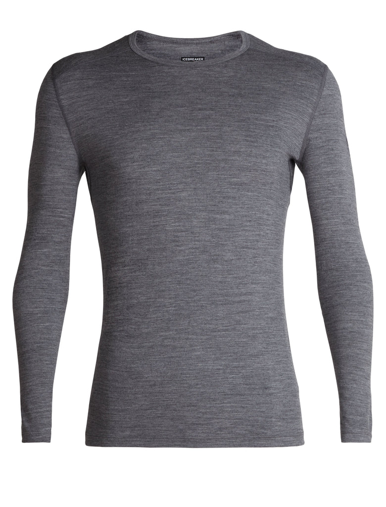 Icebreaker - Mens 200 Oasis L/S Crewe Merino Base Layer Clothing - Gritstone Heather | Buy Now | TheOutdoorBoutique.com