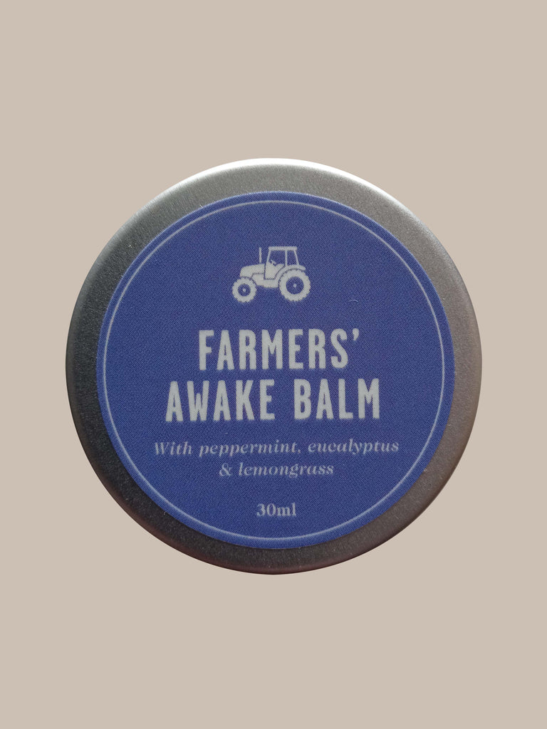 Farmers' Welsh Lavender - Awake Balm 30ml - Natural Energising Lotion