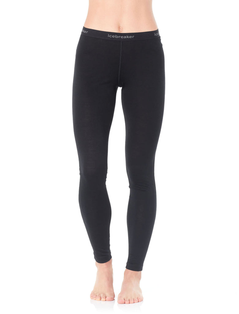 Icebreaker merino wool leggings for women in black
