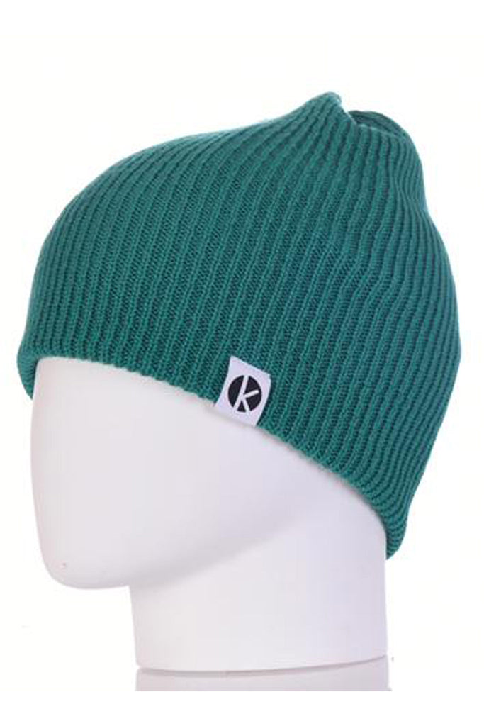 K-nit - Bowen Merino Wool Beanie - Green Wool Hats