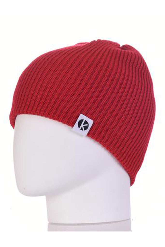 K-nit - Bowen Merino Wool Beanie - Red Wool Hats