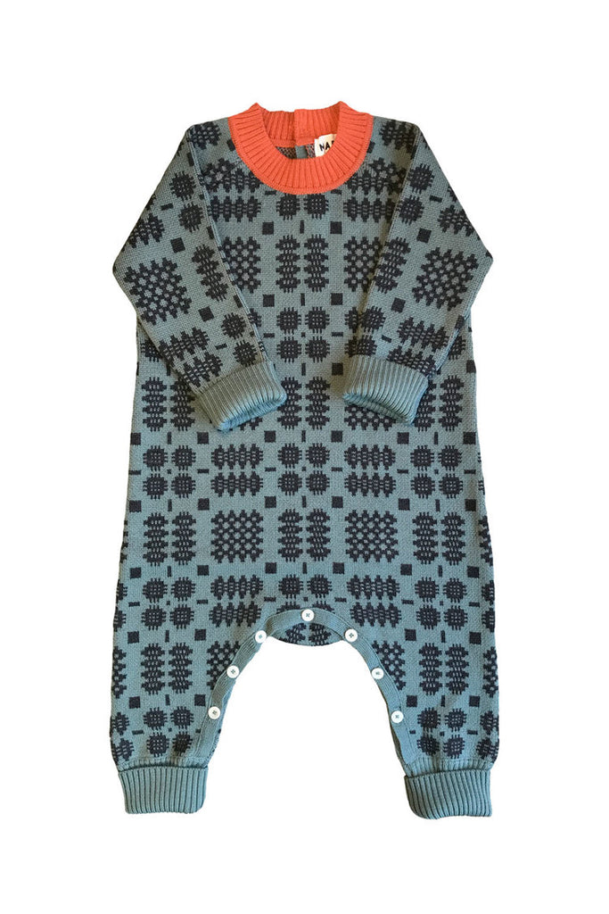 Mabli - Cross Playsuit Onesie in Duck Egg - Toddler's Outdoor Clothing