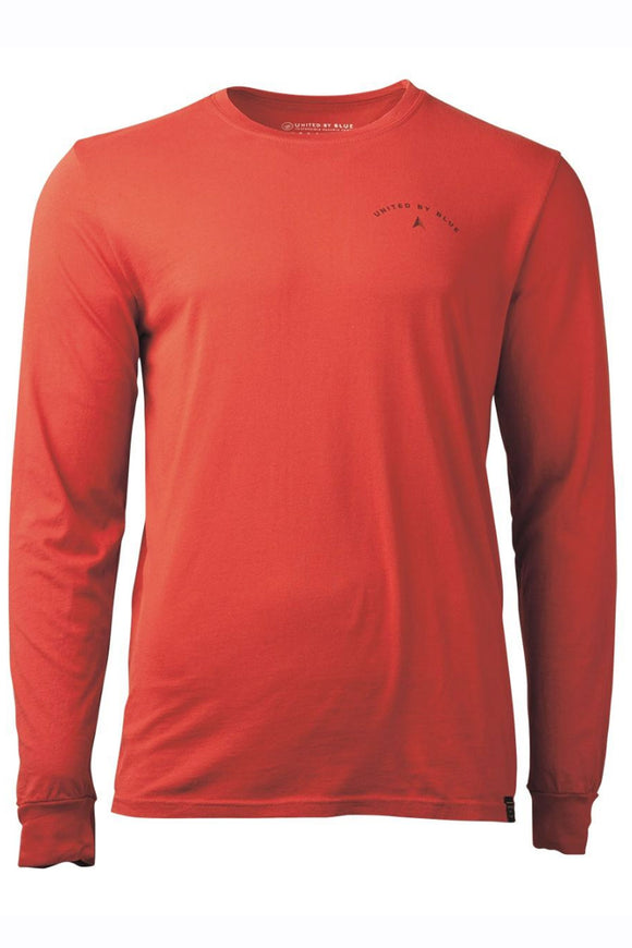 United By Blue - Mens L/S Adventure Starts Here - Rock Red