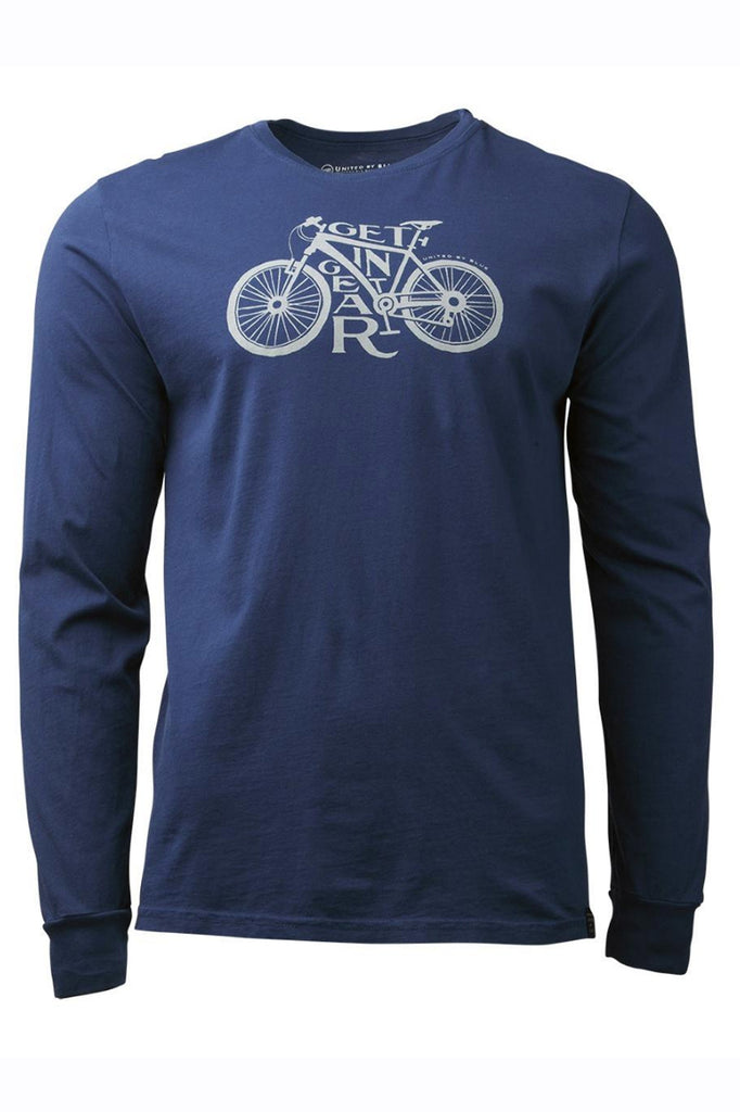 United By Blue - Men's Long Sleeve Get in Gear T-Shirt - Organic Cotton