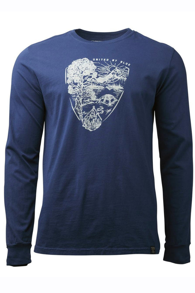 United By Blue - Men's Long Sleeve T-Shirt - Parks Pennant L/S Top Blue