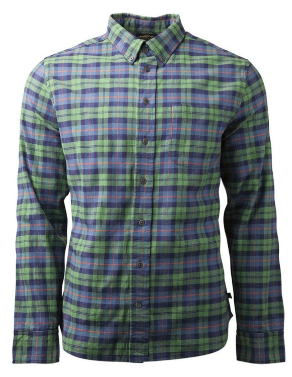 United By Blue - Mens Pitchstone Plaid Shirt - Fern Green