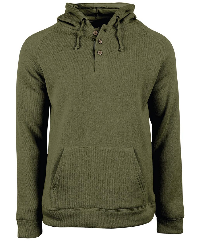 Green Organic Cotton Hoodie for Men - United By Blue Auckland Hoodie