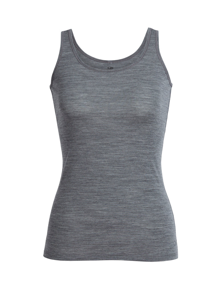 Icebreaker - Womens Siren Tank - Gritstone Heather