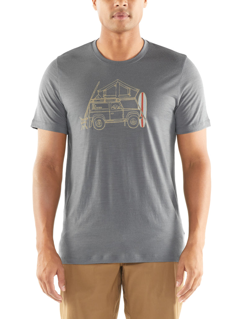 Mens Tech Lite S/S Crew Surfspot Camper T-Shirt