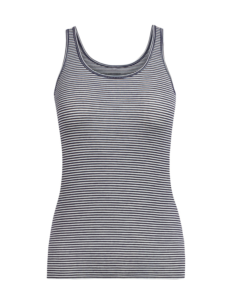Icebreaker - Womens Siren Tank - Midnight Navy Stripe