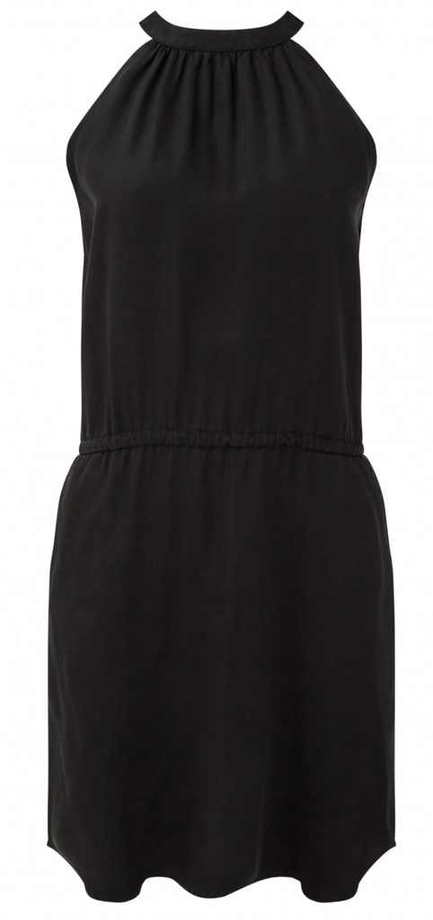 Tencel Lyocell Dress - Casual Black Sustainable Dress - Cypress by Tentree