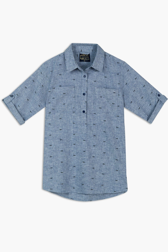 United By Blue - Womens Fox Trail Printed Popover Shirt