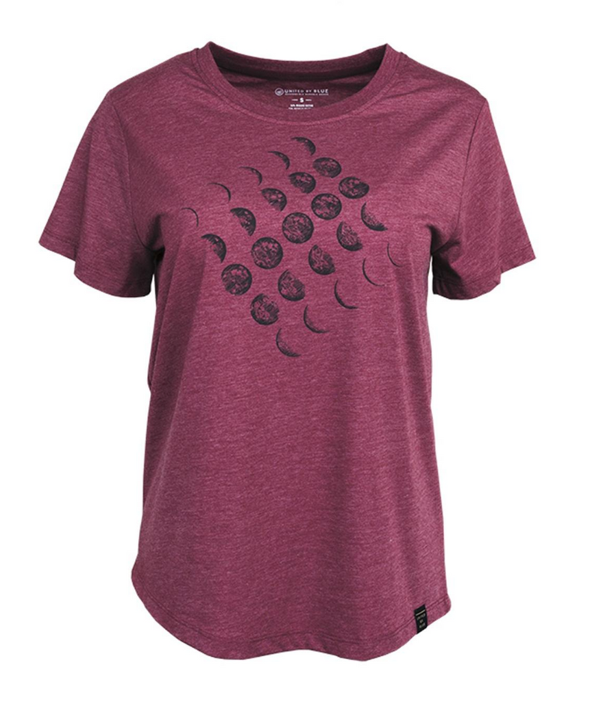 United By Blue - Womens Moon Cycle T-Shirt - Organic Cotton Tee