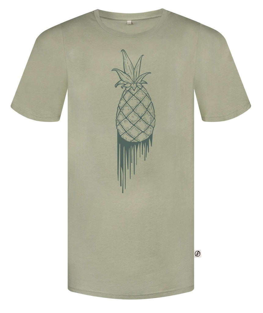 Bleed - Mens Bloody Pineapple Olive T-Shirt
