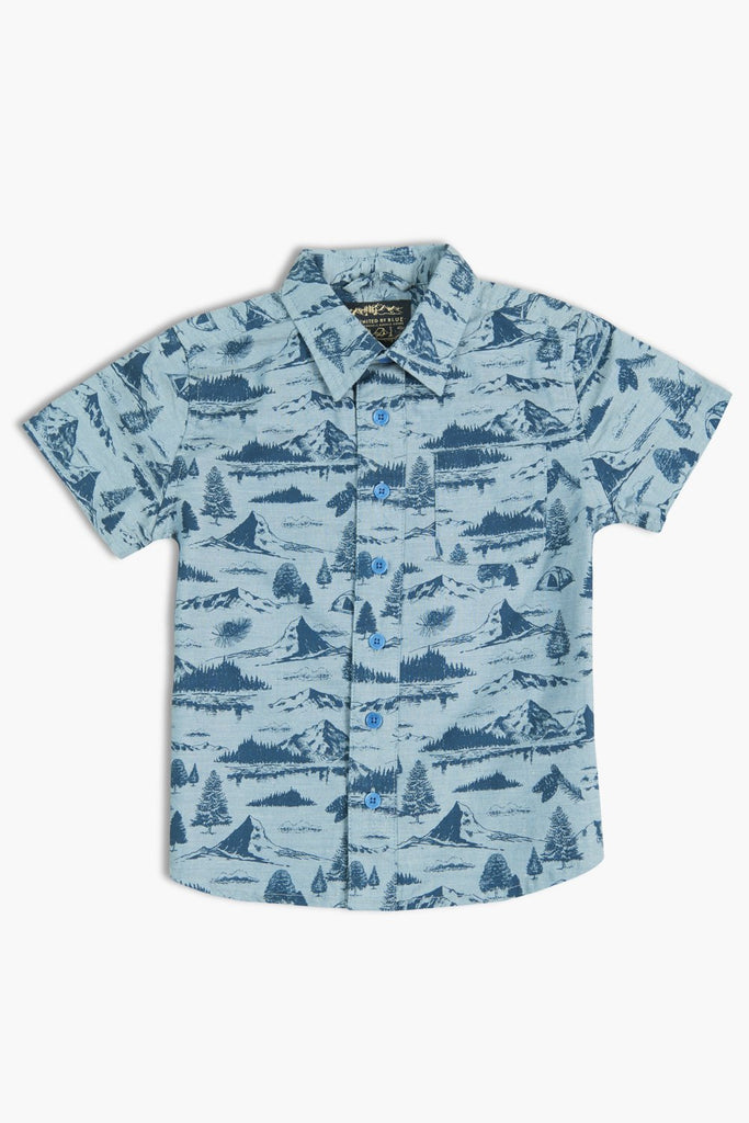 United By Blue - Boys Mountain Vista Shirt - Kids Shirts