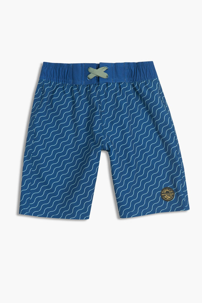 United By Blue - Boys Stillwater Board Shorts - Kids Swim Shorts