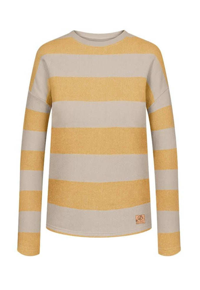 Yellow Striped Jumper for Women - Bleed Captains Sweater
