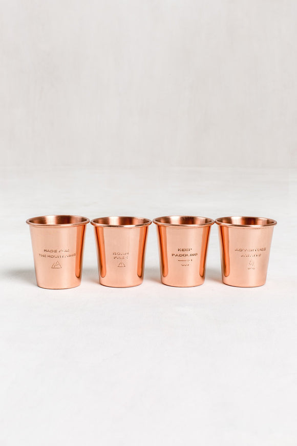 United By Blue Copper Shot Glass Set of Four | TheOutdoorBoutique.com