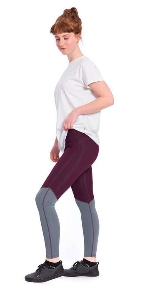Bleed - Eco Active ECONYL Leggings Dark Purple/Grey