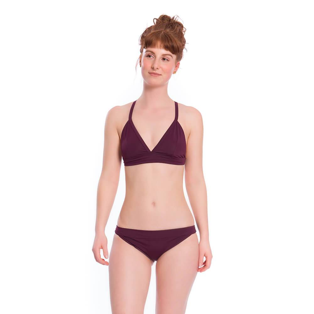 Bleed - Eco ECONYL Bikini Bottoms Dark Purple/Grey - Bikini Bottoms