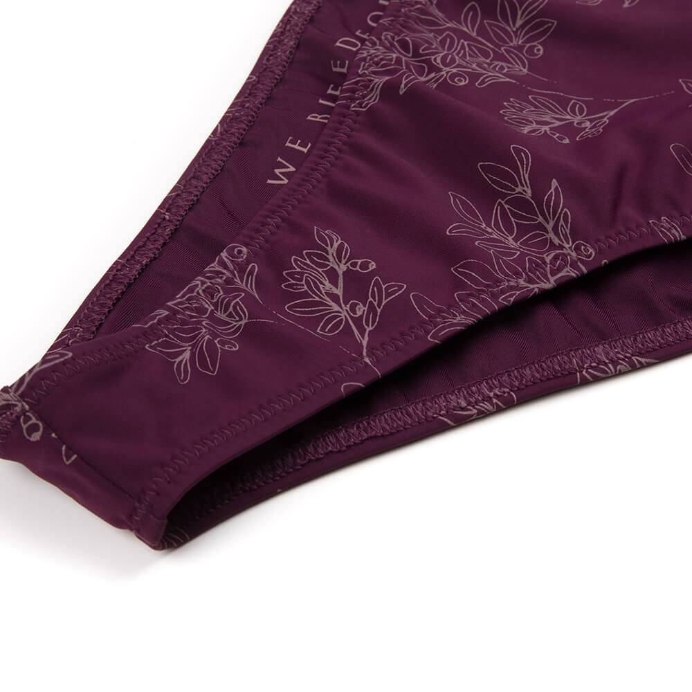 Bleed - Eco Triangle ECONYL Bikini Bottoms Dark Purple