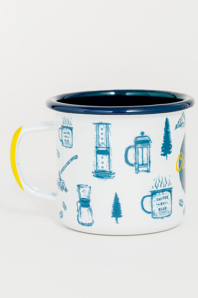 Outdoors Enamel Steel Mug 340ml