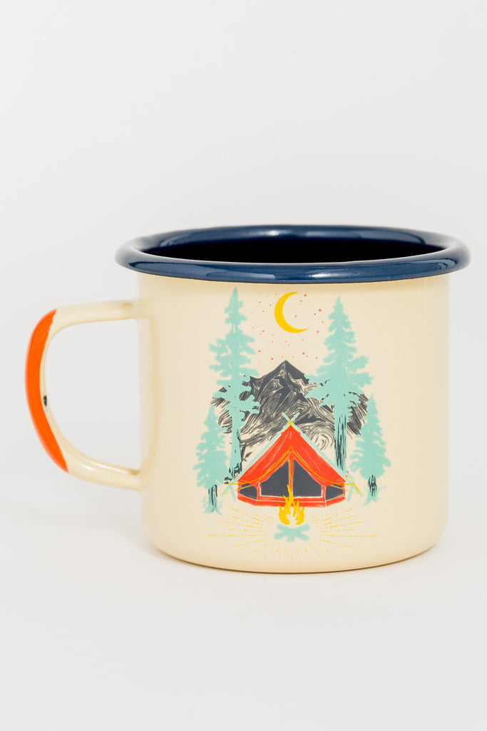 Tent Dreams Enamel Steel Mug 340ml
