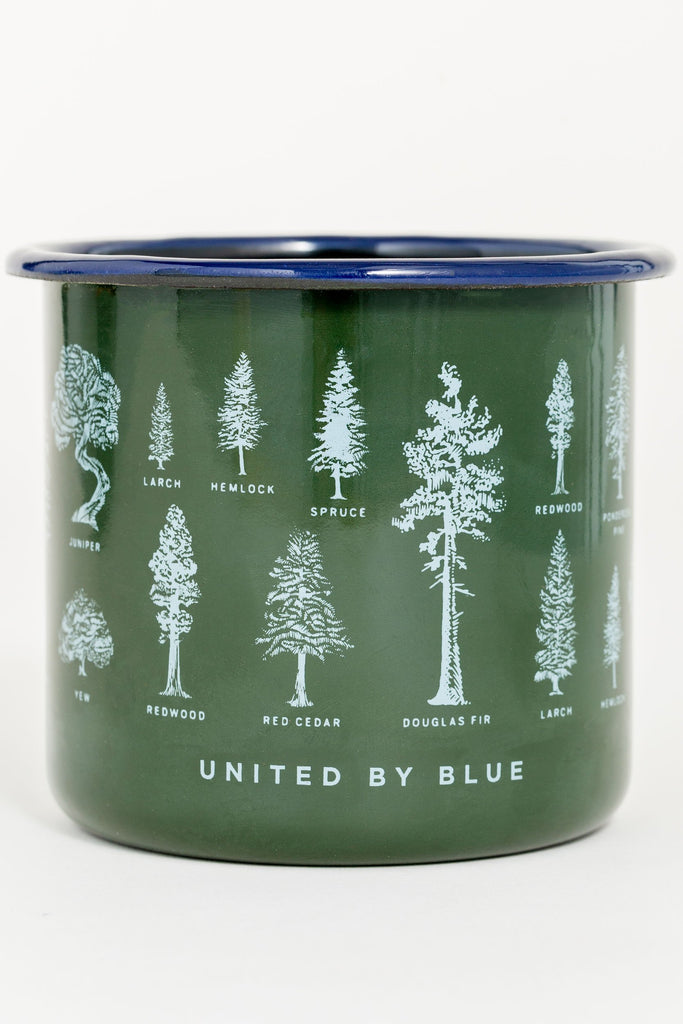 United By Blue - Evergreen Enamel Steel Mug - Camping Mug