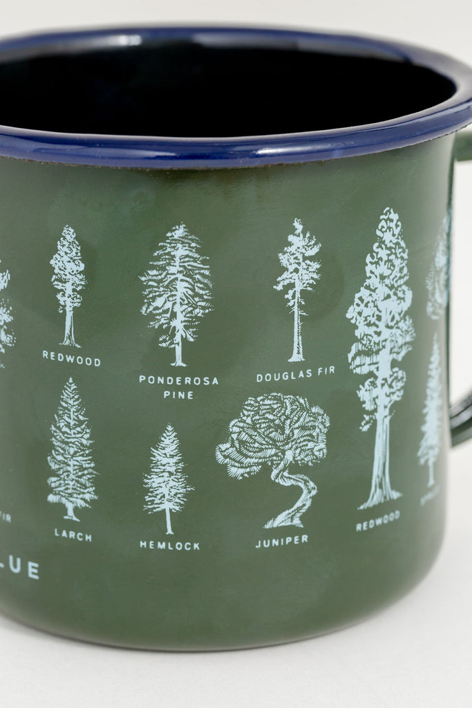Evergreen Enamel Steel Mug 650ml