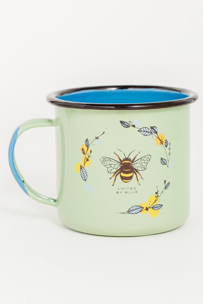 Honey Bee Enamel Steel Mug 650ml