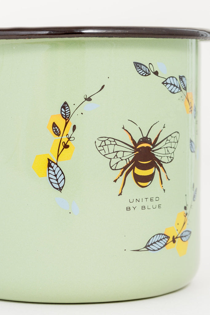 United By Blue - Honey Bee Enamel Steel Mug - Camping Mug