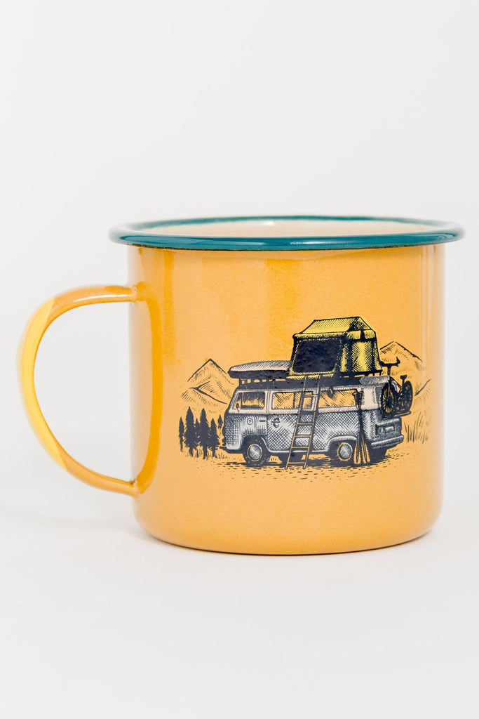 United By Blue - Pack up & go Enamel Steel Mug - Camping Mugs