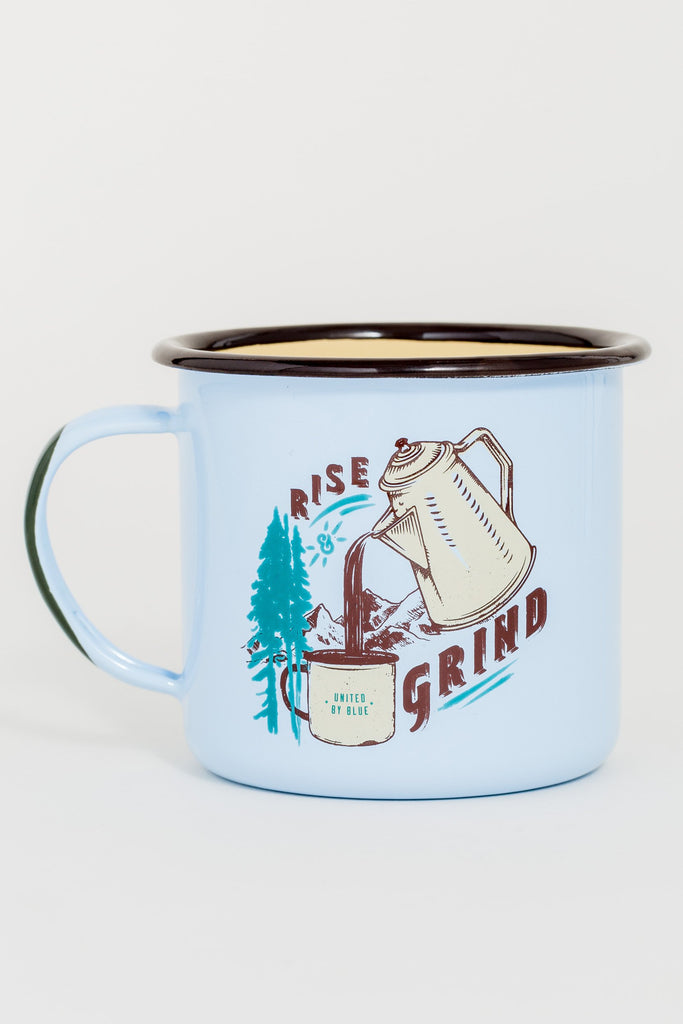 United By Blue - Rise & Grind Enamel Steel Mug - Camping Mugs