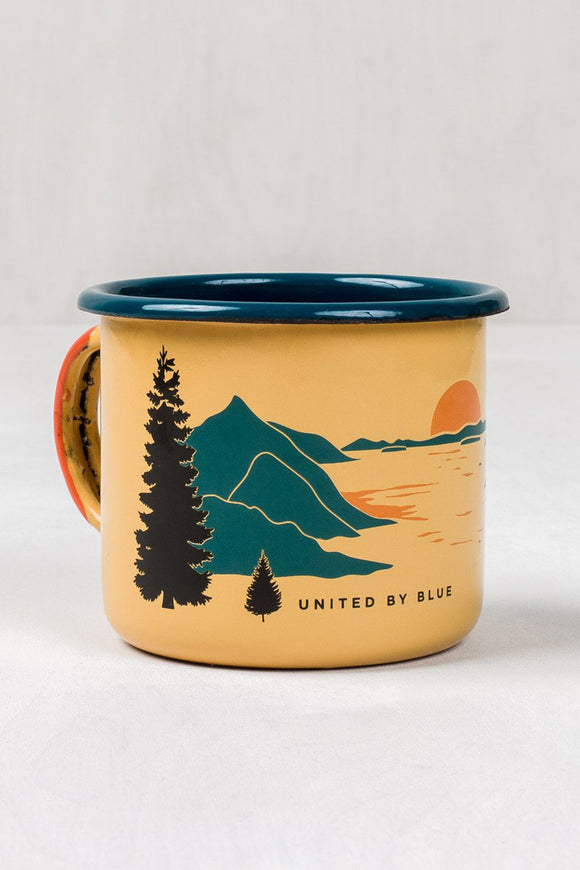 United By Blue Inlet Enamel Steel Mug | TheOutdoorBoutique.com