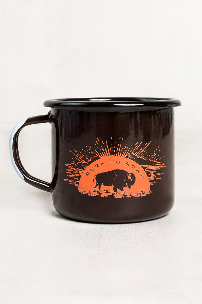 United By Blue - 'Born to Roam' Enamel Steel Mug