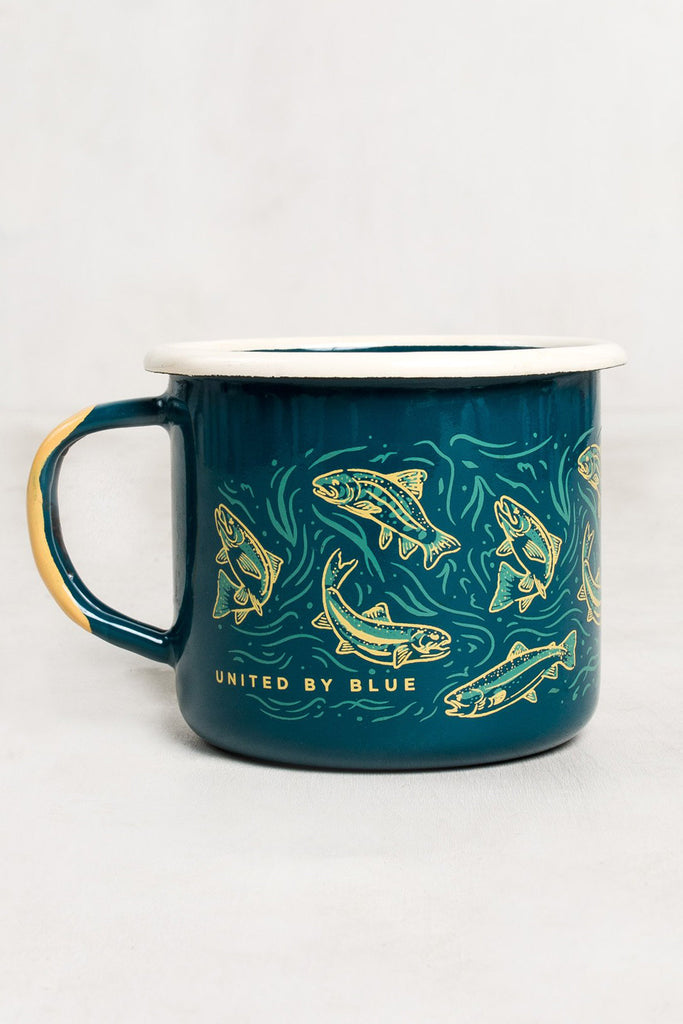 'Upstream' Enamel Steel Mug 340ml