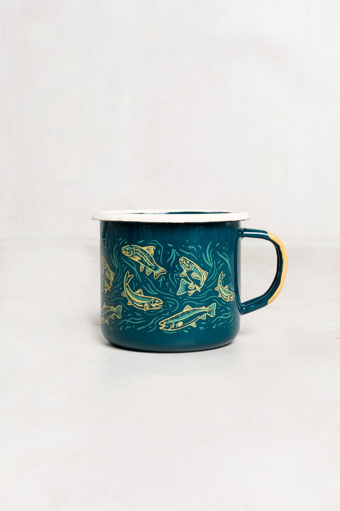 United By Blue Upstream Enamel Steel Mug | TheOutdoorBoutique.com