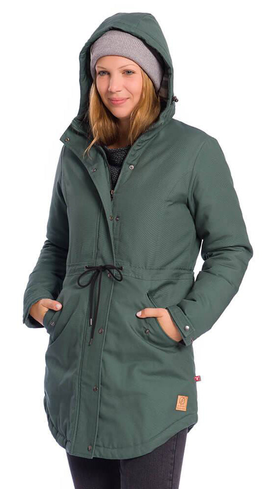Bleed - Thermal Parka Jacket for Women - Green Ladies Parka Coat