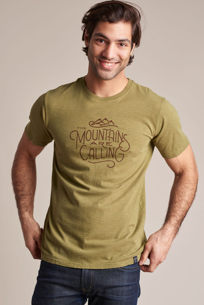 United By Blue - The Mountains Are Calling T-shirt - Olive