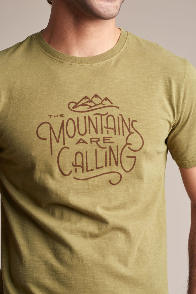 United By Blue - Mens The Mountains Are Calling Tee - T-Shirt