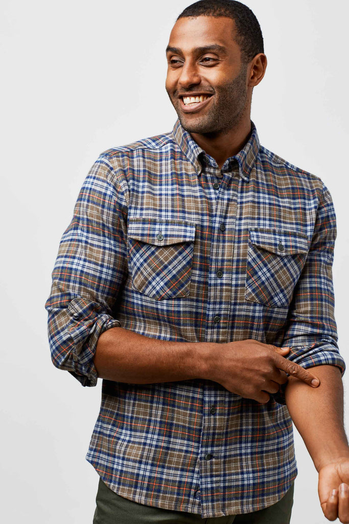 United By Blue - Mens Bridger Flannel Button Down  - Shirts