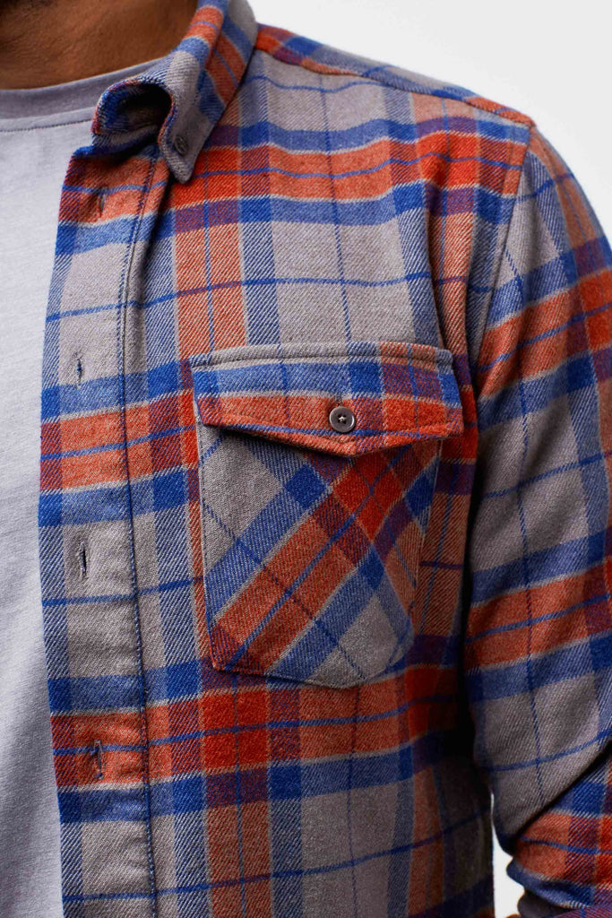United By Blue - Mens Bridger Flannel Button Down  - Shirt