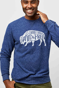 United By Blue - Mens Wild & Free Crew Pullover - Navy