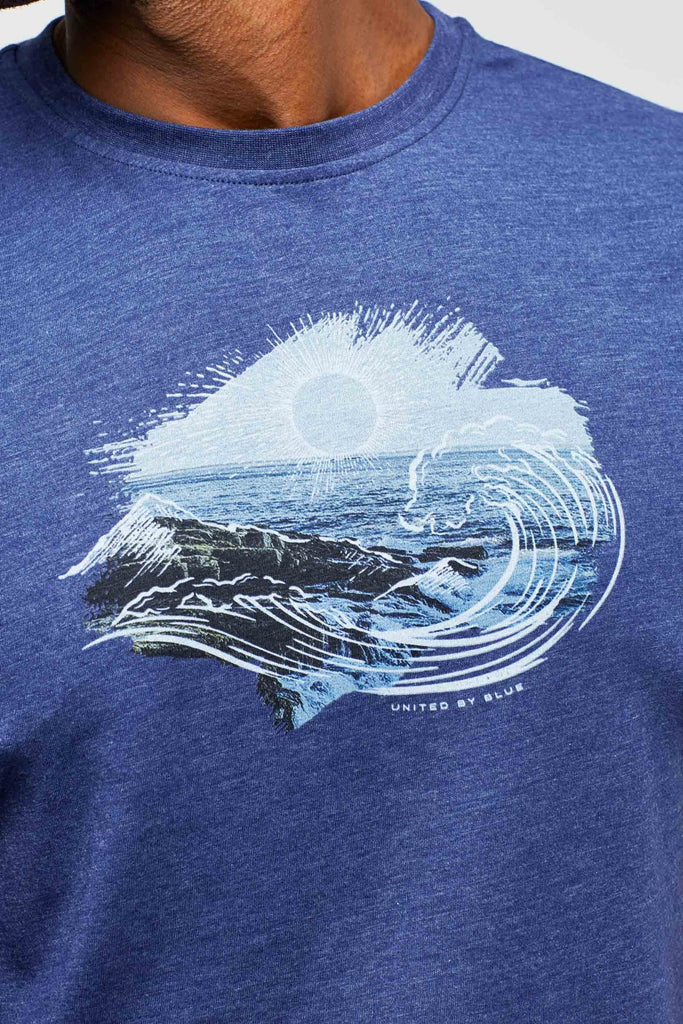United By Blue - Mens High Tide T-shirt - Navy